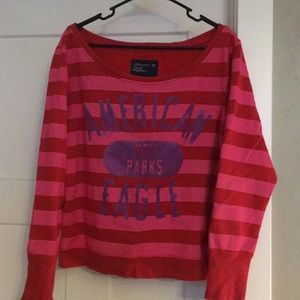 Large Scoop neck sweatshirt